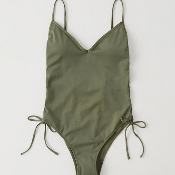 df93d1e55bb9e Abercrombie & Fitch Swim | Abercrombie Fitch Green One Piece Bathing ...